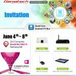 Join Geniatech at N0214,NanGang Hall,2013 Computex from June 4th-8th