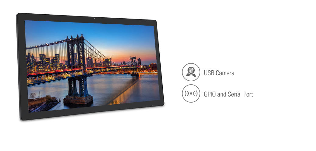 Commercial Android Tablets support PoE, HDMI-in, GPIO, RF optional
